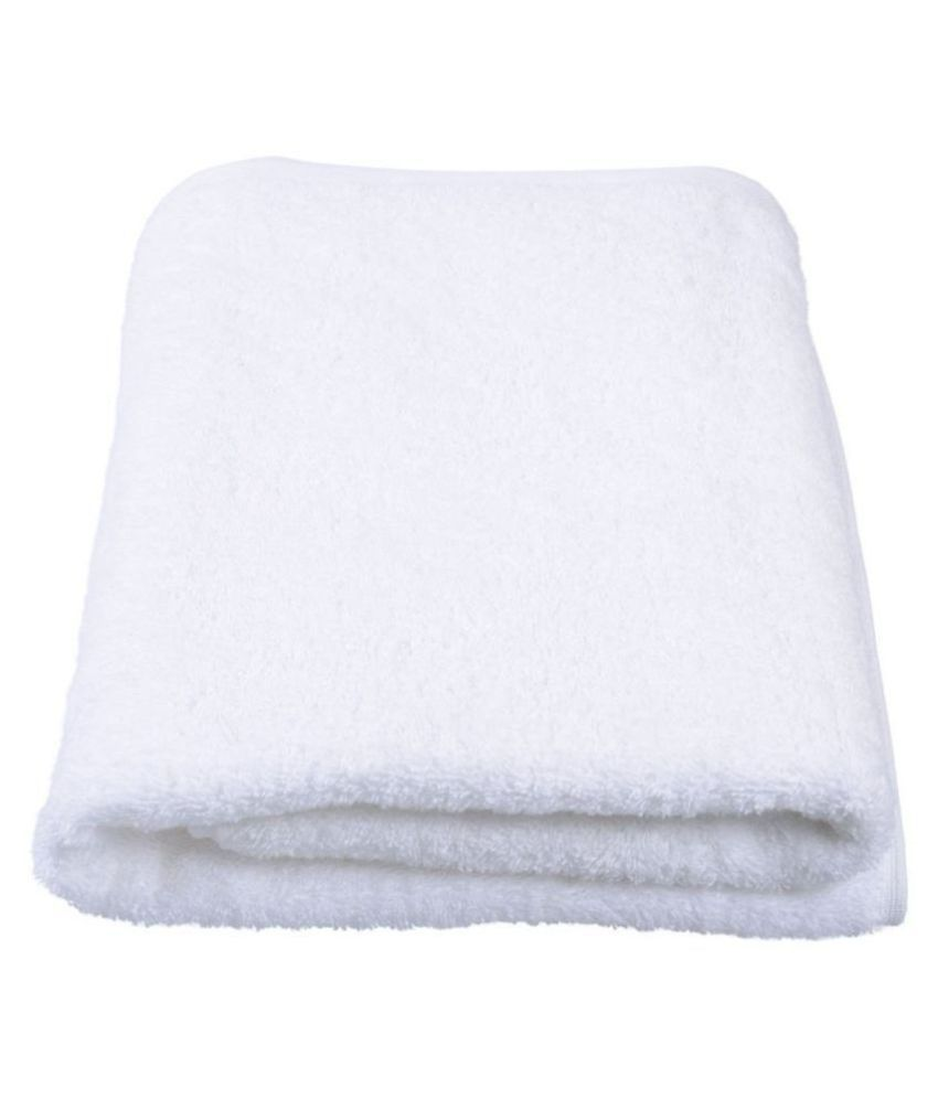 Welhouse India Single Cotton Bath Towel White
