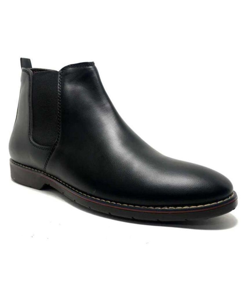 SIMATA Black Chelsea boot