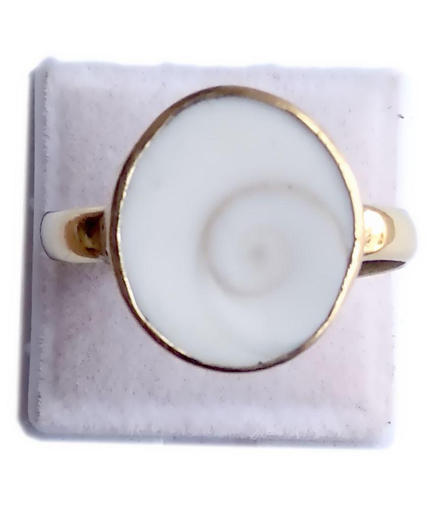 Natural Gomti Chakra Ring 8.83-9.44 Ratti 7.50-8.50 Carat Panchdhatu Metal Adjustable Free Size Ring for Men and Women