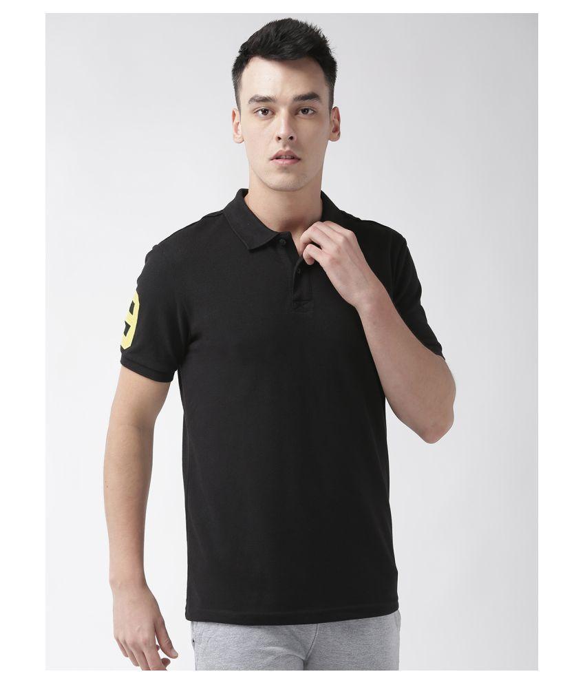 Alcis Black Cotton Polo T-Shirt Single Pack