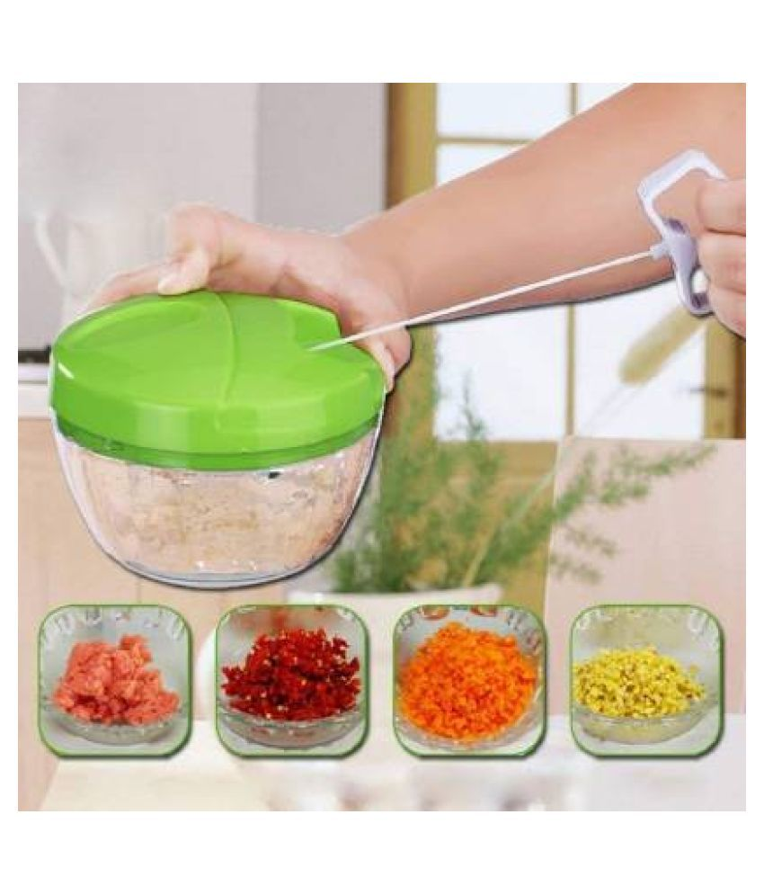 Multifunction Vegetable Cutter Chopper Garlic Cutter Vegetable Twist Shredder Manual Meat Grinder food processor Chopper(green