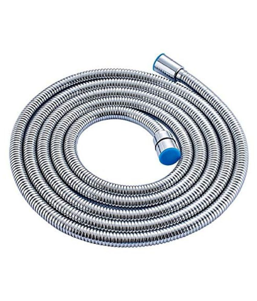 ACCENT 1Mtr Health Faucet SS Tube,Chrome Plated Rubber Connection Pipe