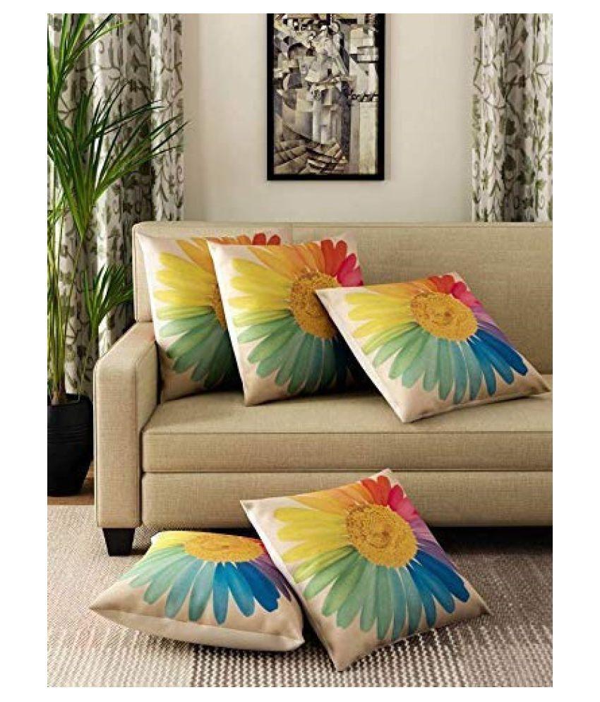 EMBROCO Set of 5 Satin Cushion Covers 40X40 cm (16X16)