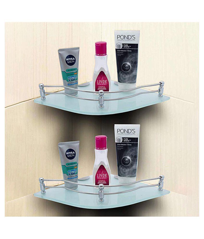 SAMYU Glass Corner Shelf