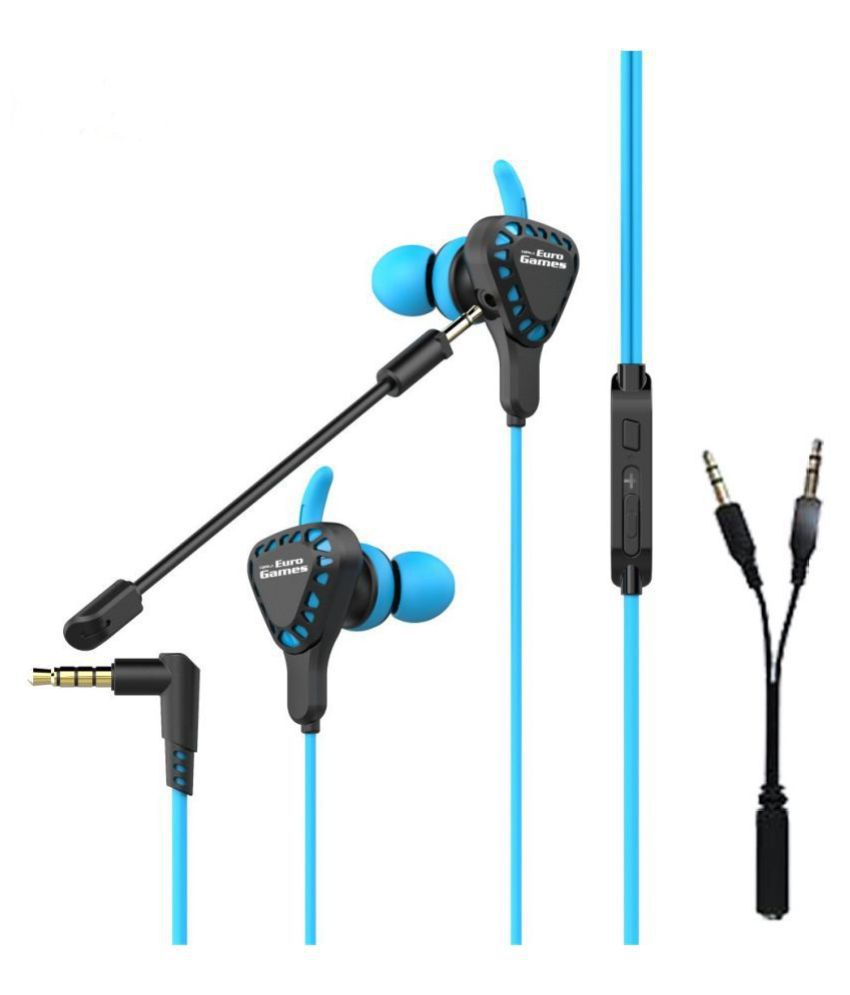 RPM Euro Games Gaming Earphone With Mic In Ear Wired With Mic Headphones/Earphones