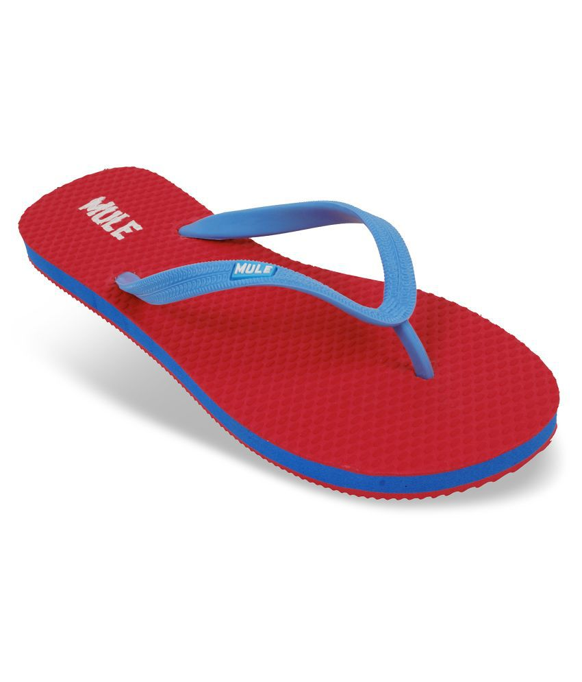 Mule Red Slippers