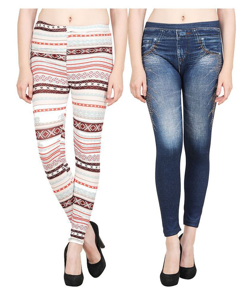 Aiyra Polyester Jeggings - Multi Color