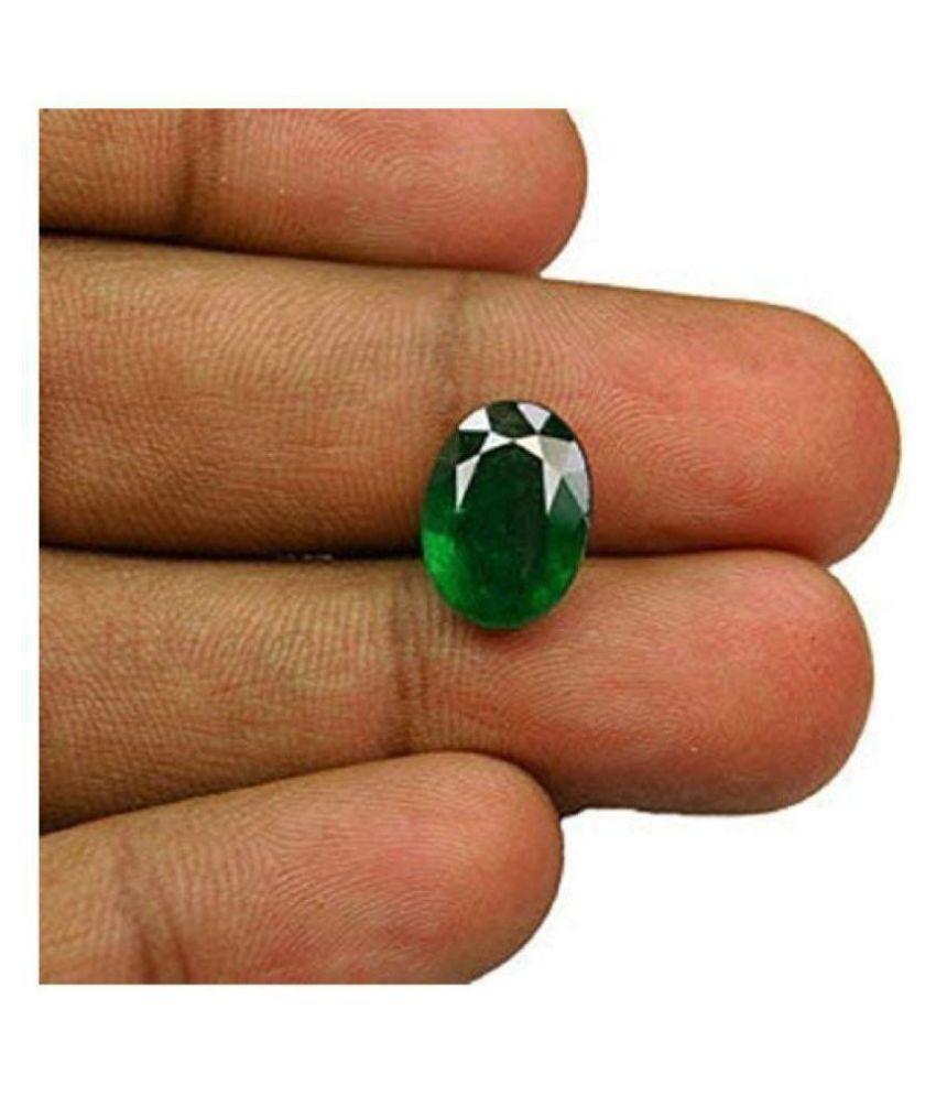 RONAK GEMS 5.25 -Ratti Self certified Green Emerald Precious Gemstone