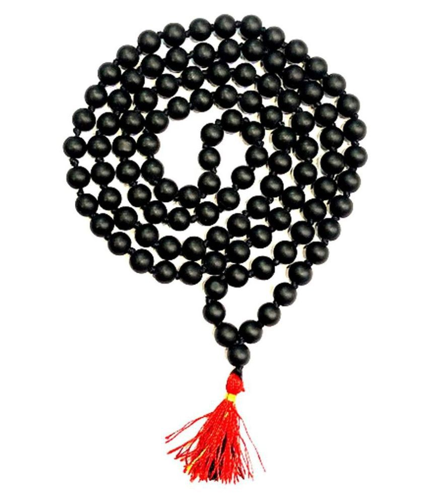 Rare Narayanam Shaligram Beads Mala from Gandaki River 108+1 Beads (7 M.M)