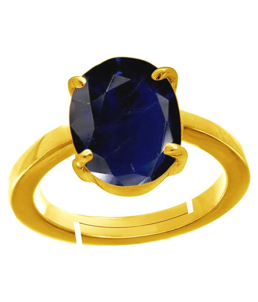 Todani Jems® 11.25 Ratti 10.62 Carat Natural Certified Blue Sapphire Neelam Ring for Men and Women