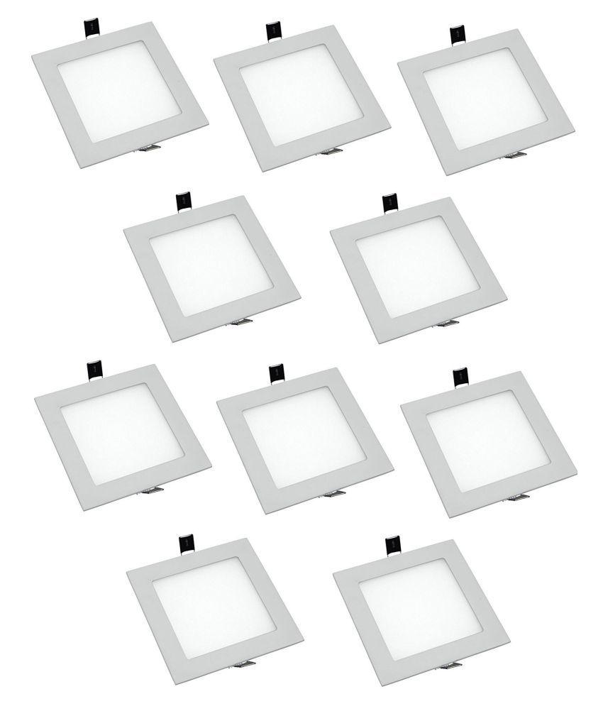 D'Mak 8W Square Ceiling Light 9.7 cms. - Pack of 10