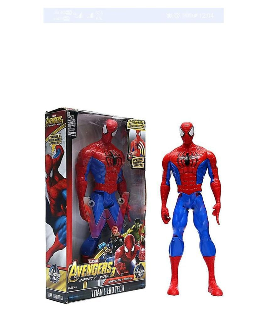 Avengers End Game Action Figure Toy's With Sound - Spiderman
