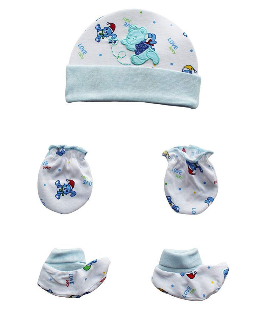 Gouravsumana Baby Boys and Baby Girl's Soft Cotton Cap ( Multicolour ; Pack Of 1 ) 3-6 Months