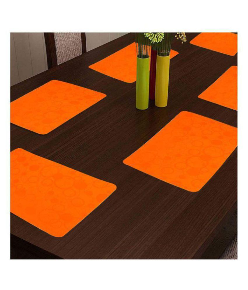 Khushi Creation Set of 6 PVC Table Mats