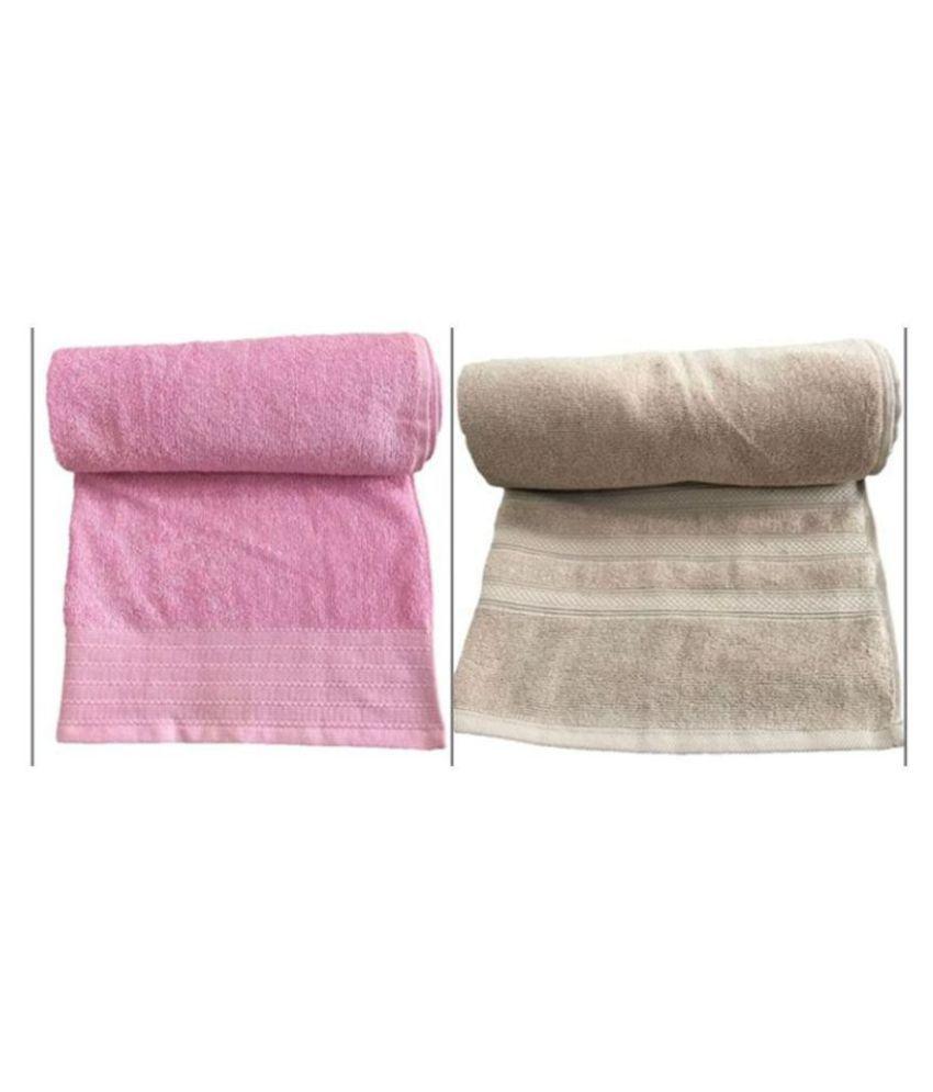 Kkrish Set of 2 Cotton Bath Towel Multi