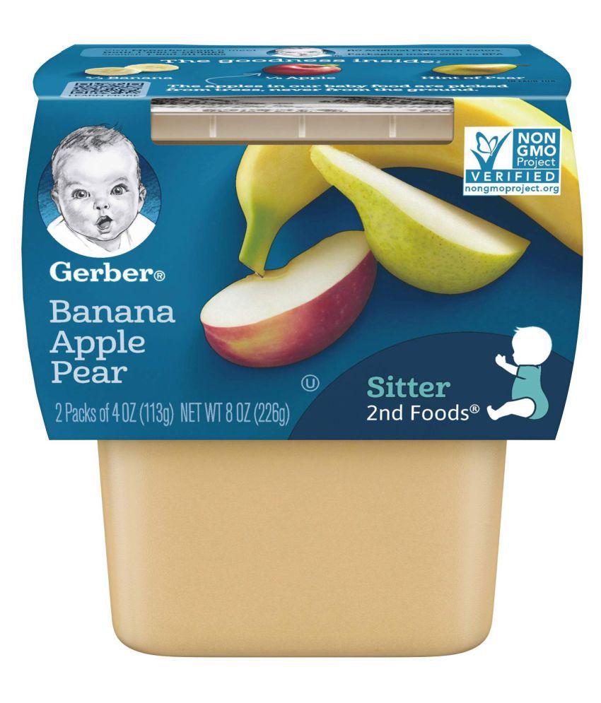 Gerber Banana , Apple , Pear Snack Foods for 6 Months + ( 226 gm )