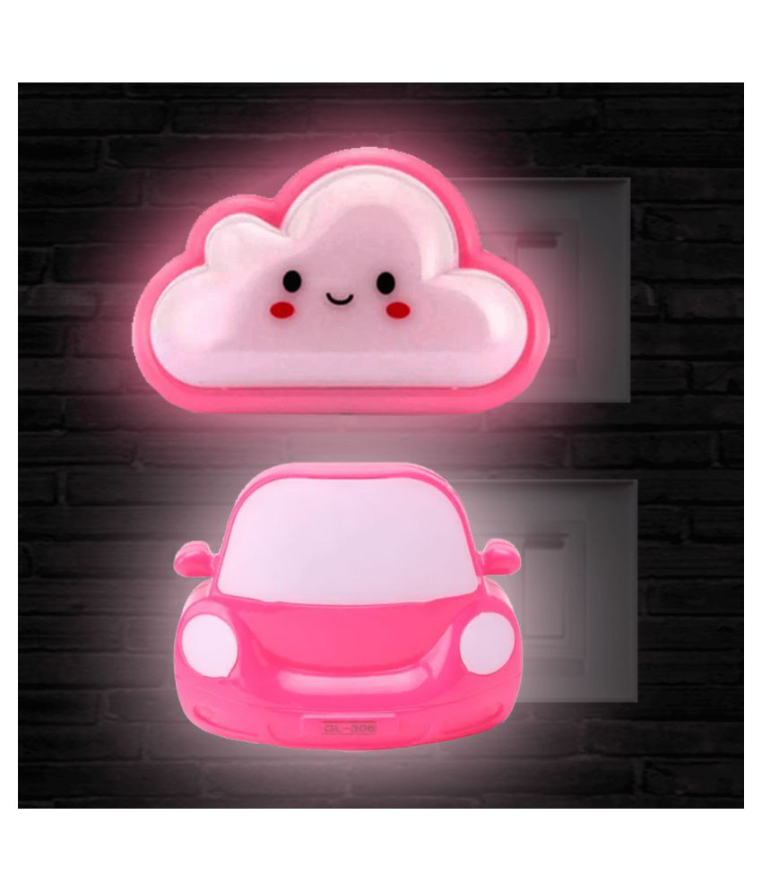 zivaa Cloud & Car Night Lamp Assorted - Pack of 2