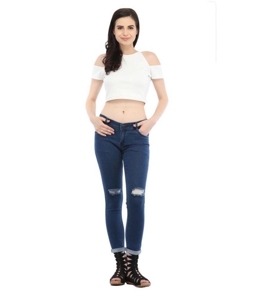 Cali Republic Denim Lycra Jeans - Blue
