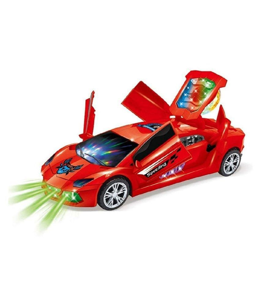 3D Farrari Battery Car with Road Sound in Speaker 2.4Ghz One-Key R/C