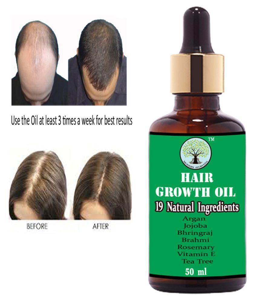 MODERNAYURVEDA Ayurvedic Hair Growth Oil With 19 Herbs 50 mL Pump Cardboard Box