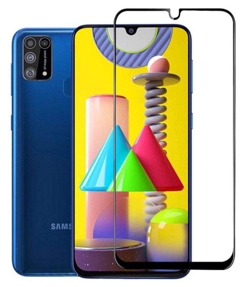 Samsung Galaxy M31 Full Glue Tempered Glass Screen Guard By Ravbelli Edge To Edge Tempered Glass