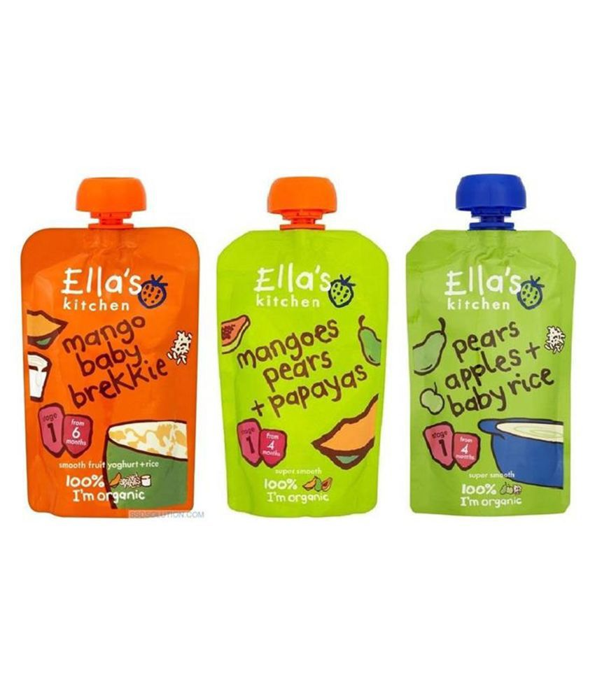 Ellas Kitchen Mixed Fruits Snack Foods for 6 Months + ( 120 gm )