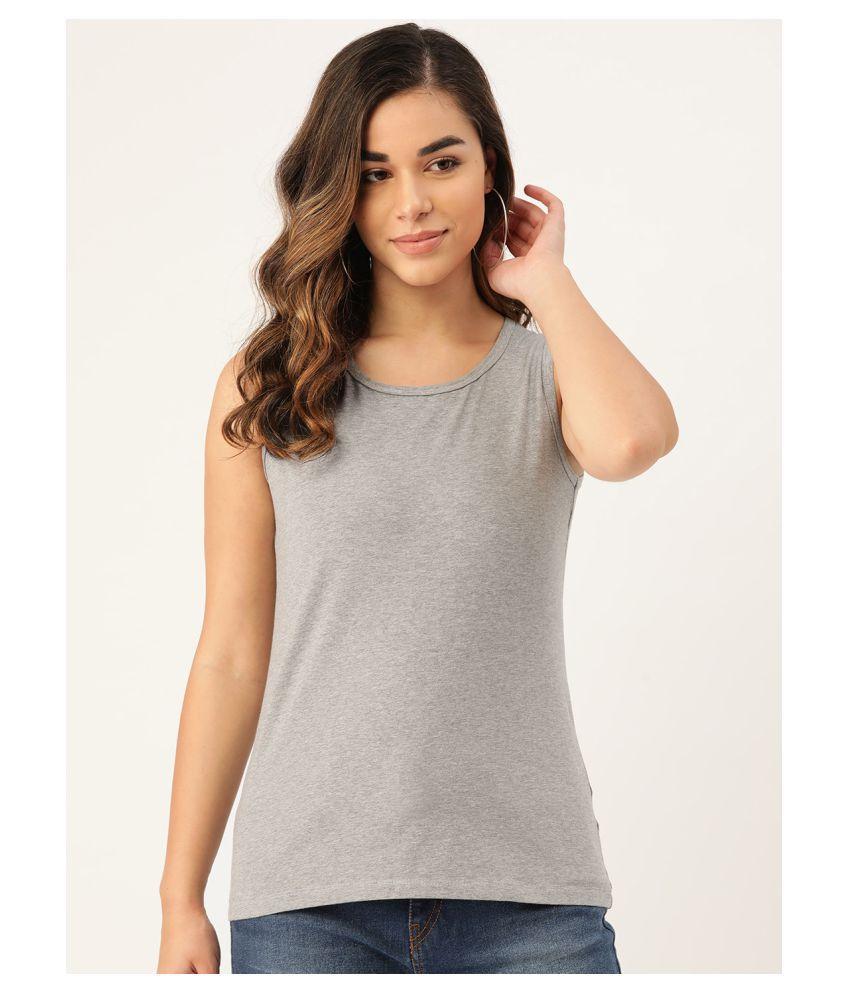 Rute Cotton Grey T-Shirts