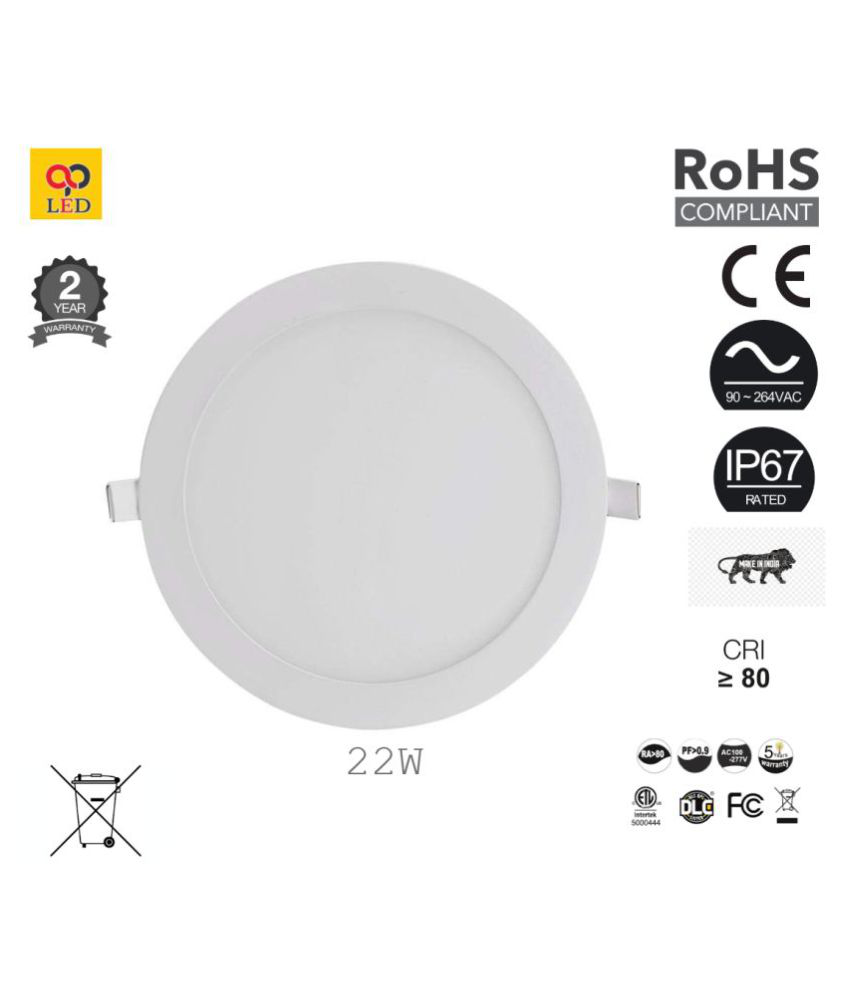 AP LED 22W Round Ceiling Light 2200 cms. - Pack of 1