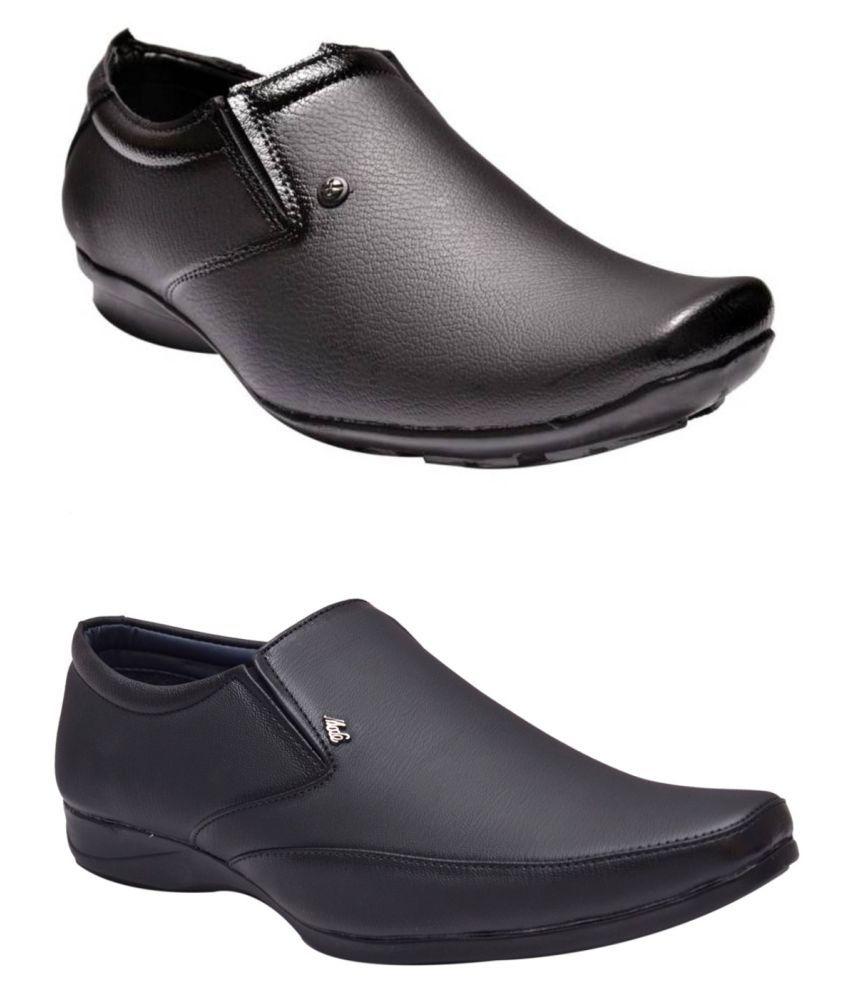 Fashion Victim Black Formal Shoe Combo
