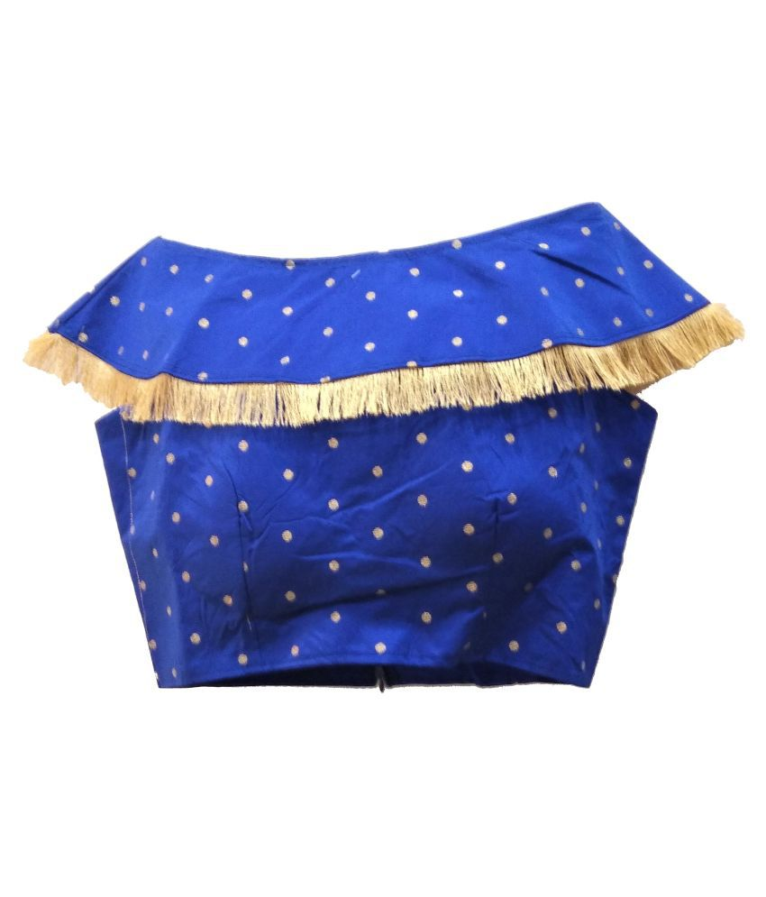 Comfort Collection Blue Cotton Readymade with Pad Blouse