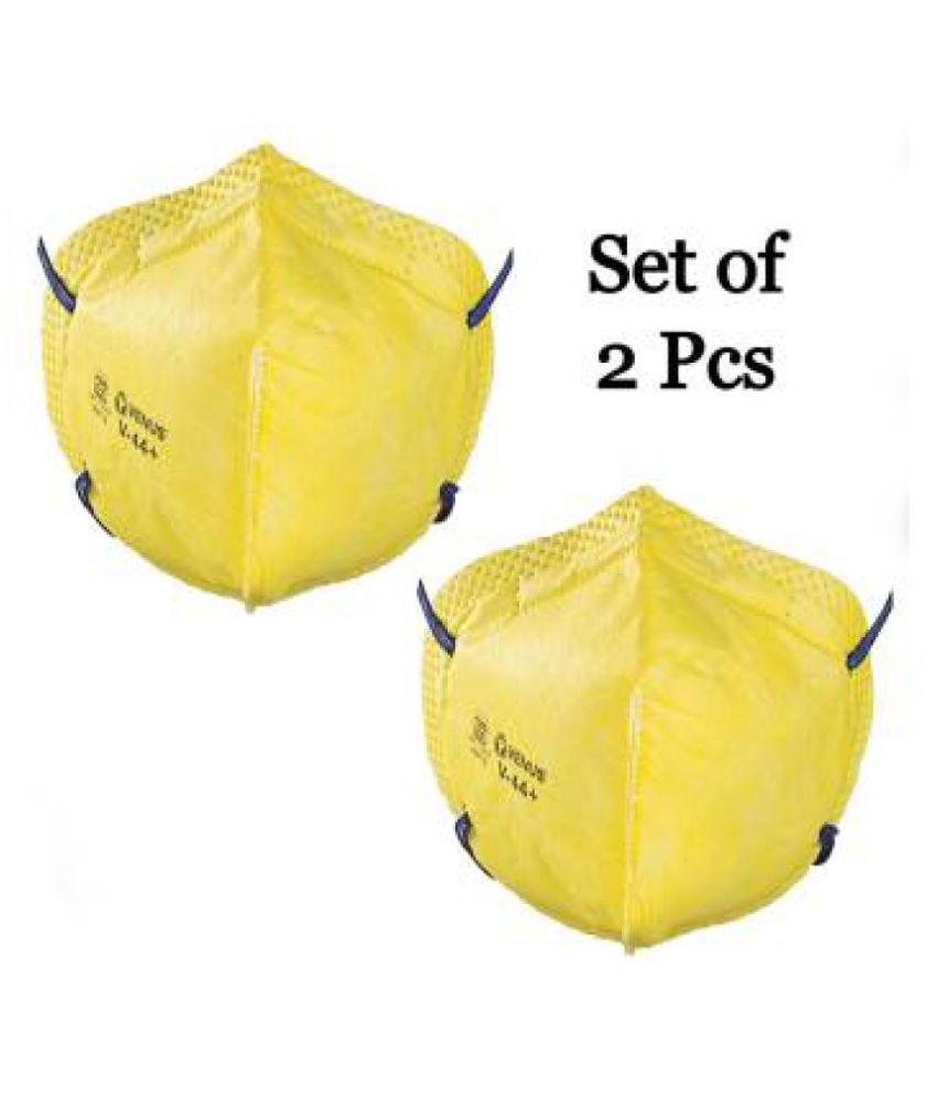 Venus V44++ Mask,ISI Marked ,Yellow - Pack of 2