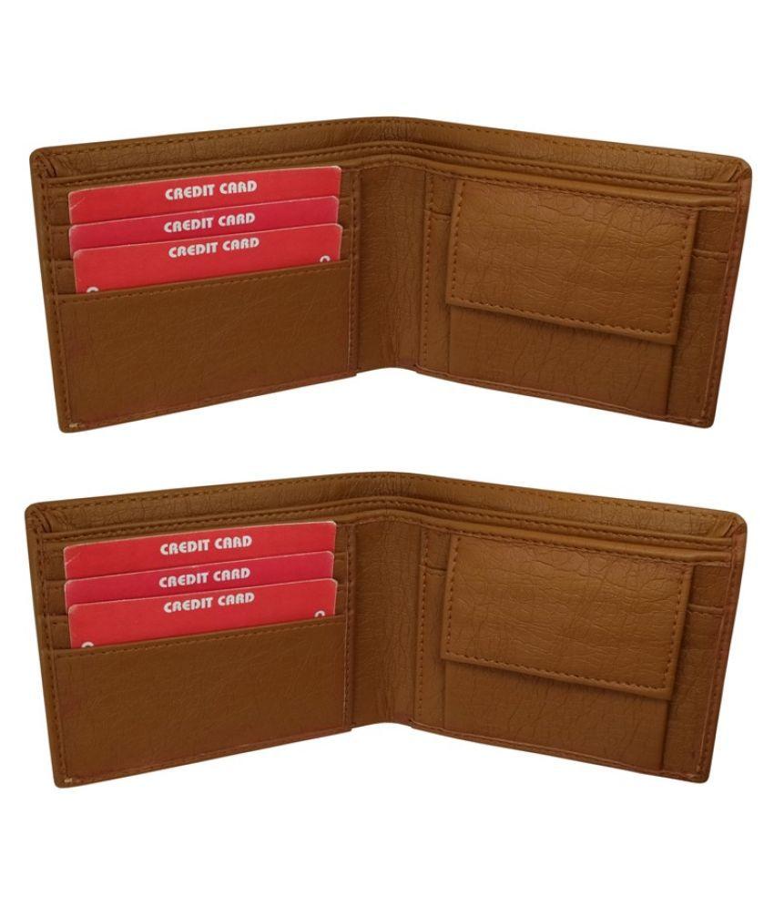 LYREM Faux Leather Tan Casual Regular Wallet