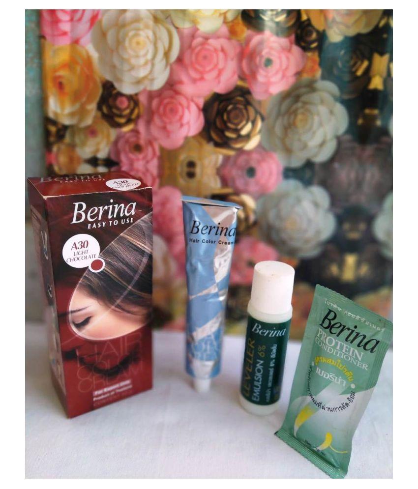 Berina Semi Permanent Hair Color Light Brown 60 g