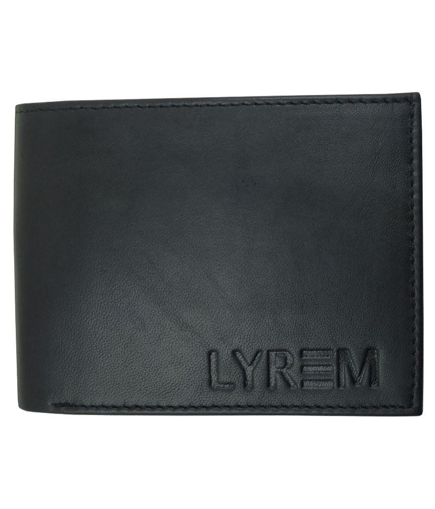 LYREM Leather Black Casual Regular Wallet