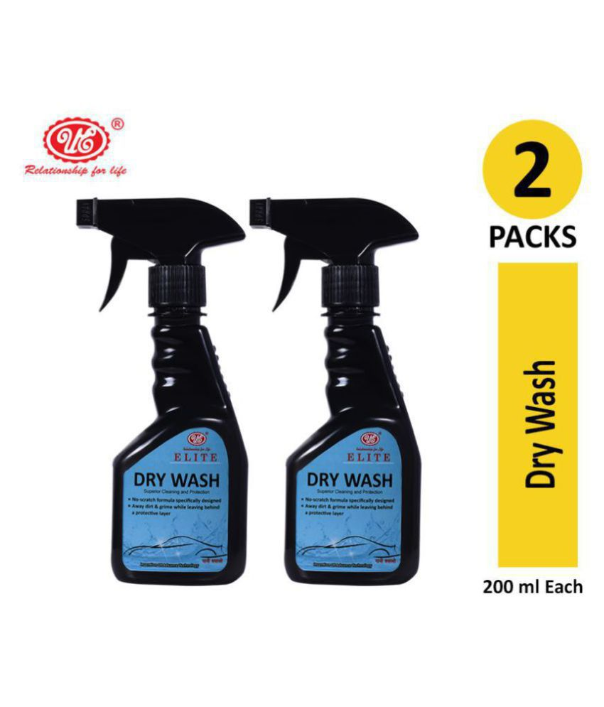 UE Elite Waterless Dry Car Wash Concentrate/ Rinseless/Waterless Auto Wash Concentrate - 200 ml (Pack of 2)