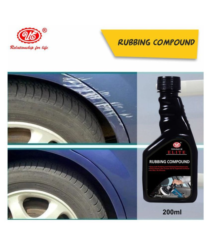 UE Elite Rubbing Compound Cleaner/Scratch Remover For All Vehicle, Quickly Removes Oxidation, Scratches & Stains - 200 ml For Car & Bike
