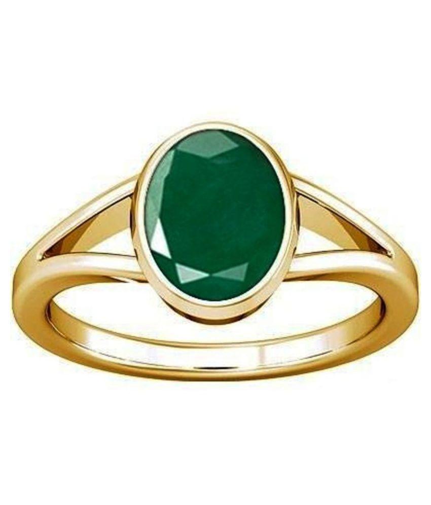 Divya Shakti 7.25 -7.50 Ratti Emerald Panna Panchadhatu Ring with AAA Quality Gemstone