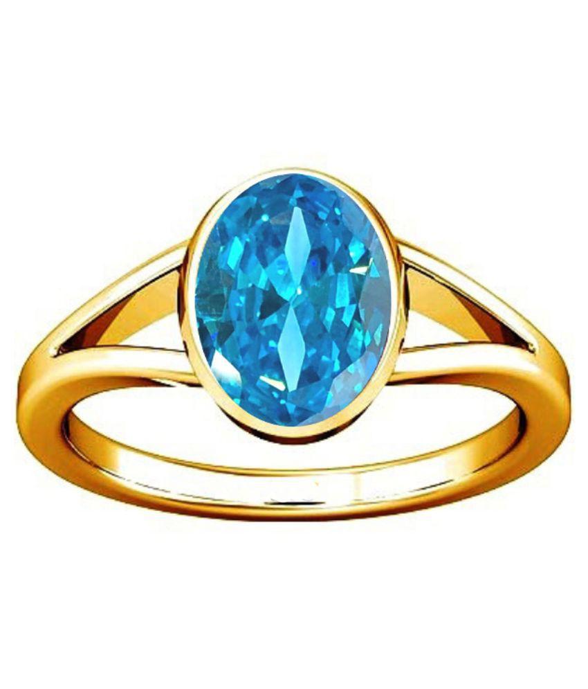 Divya Shakti 7.25-7.50 Ratti Aquamarine Beruj Gemstone Panchadhatu Ring AAA Quality