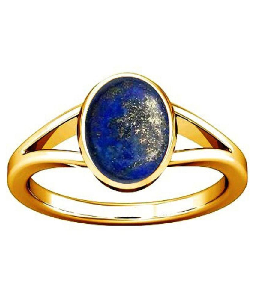 Divya Shakti 7.25 - 7.25 Ratti Lapis Lazuli Lajward Panchadhatu Ring AAA Quality Gemstone