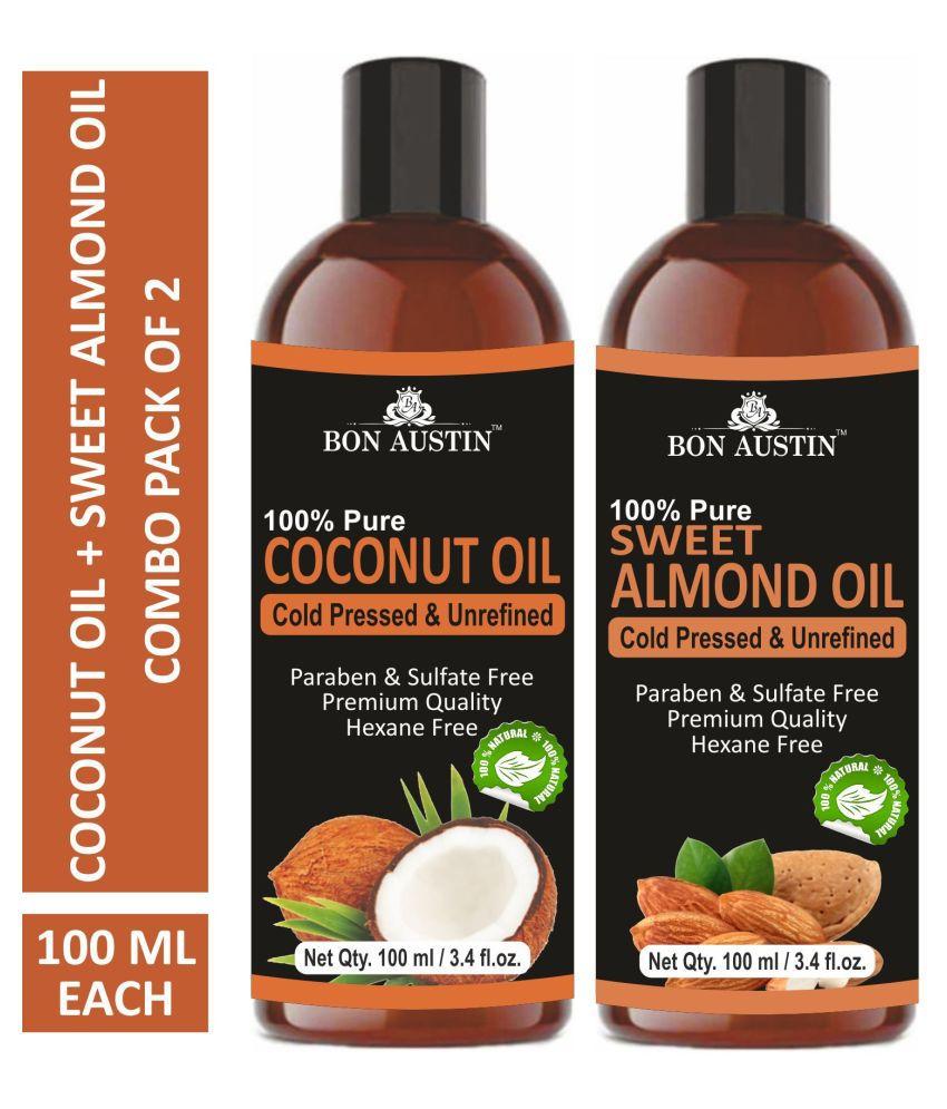 Bon Austin Premium Coconut Oil 200 mL Pack of 2