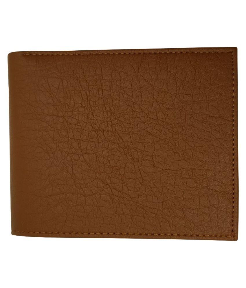 EBEZA PU Tan Casual Regular Wallet