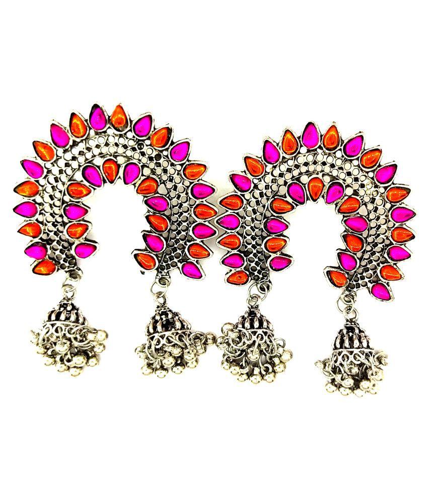 Gujjar Jewlles Fancy Multi color Earring For Women & Girls
