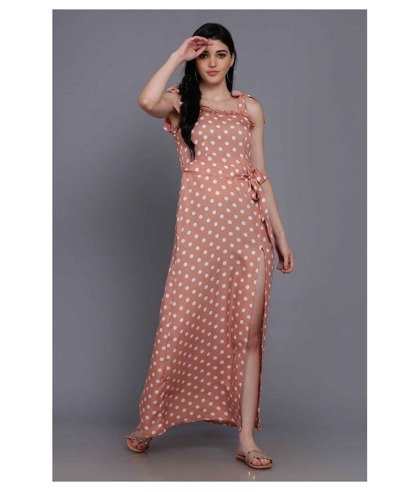 Stalk Pink Polyester Jumpsuit