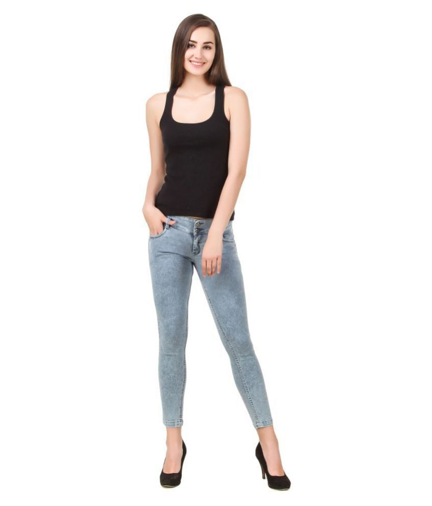 Cali Republic Denim Lycra Jeans - Grey