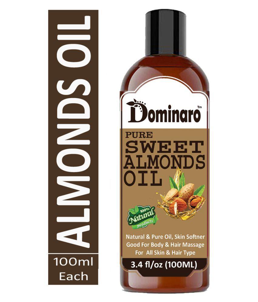 Dominaro Cold pressed Sweet Almonds Oil 100% Pure & Natural 100 mL