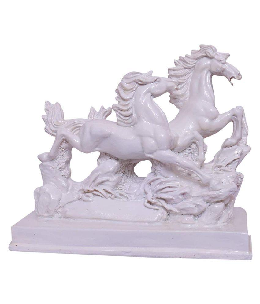 SHUBH SANKET VASTU BIG SIZE WHITE PAIR HORSE 9