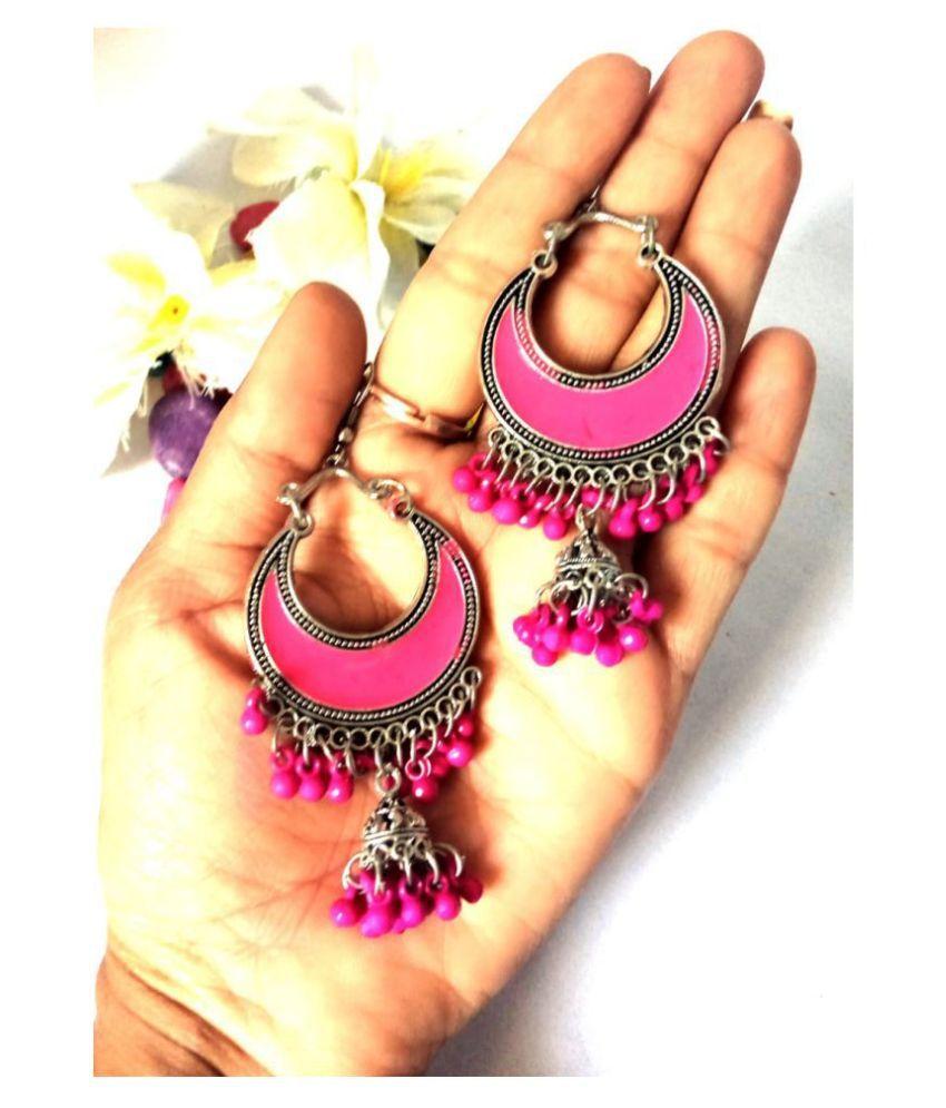 Akshetri oxidised metal alloy earrings for girls and womens