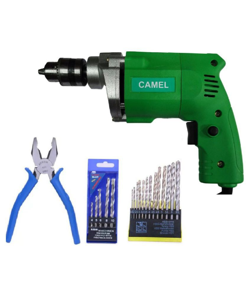 Camel - cd10 350W 10mm Corded Drill Machine with Bits
