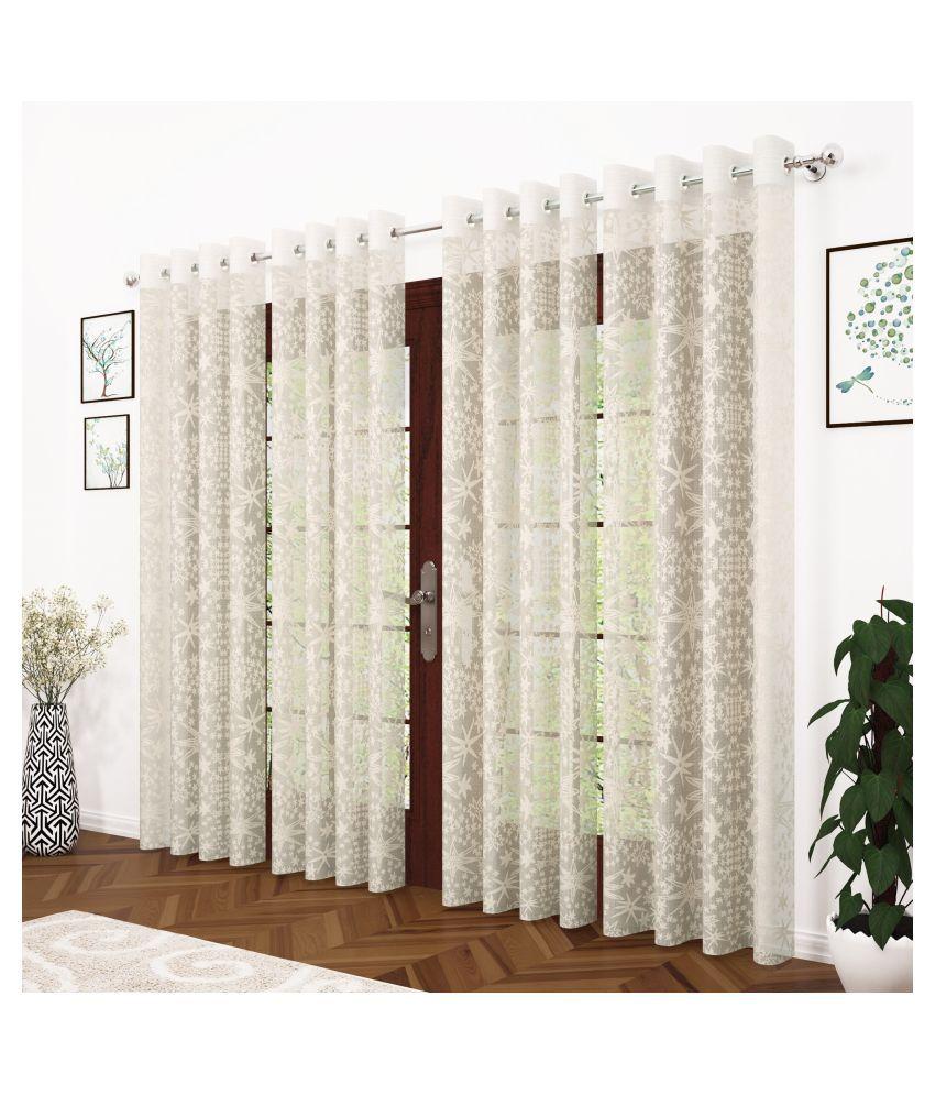 Story@Home Set of 4 Door Polka String Curtain
