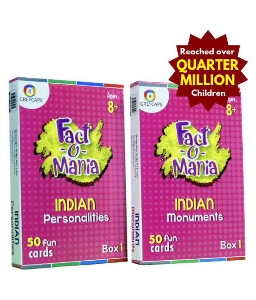 Fact-O-Mania Indian Personalities & Monuments (2 Boxes Combo)
